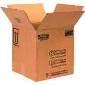 "Haz Mat Boxes For Four 1 Gal. Plastic Jugs, 12-1/4""L x 12-1/4""W x 12-3/4""H, Kraft, 20/Pack"