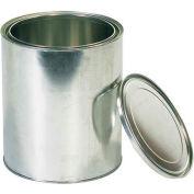 Canques de peinture en métal, 1 gal., argent, 36/pack