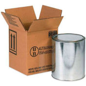 """Haz Mat Boxes For 1 Gal. Paint Can, 6-7/8""""L x 6-7/8""""W x 7-7/8""""H, Kraft, 20/Pack"""