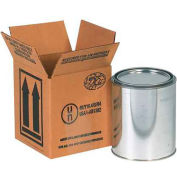 """Haz Mat Boxes For 1 Gal. Paint Can, 4-7/16""""L x 4-7/16""""W x 5""""H, Kraft, 25/Pack"""