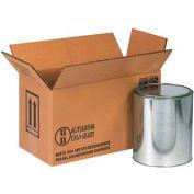 "Haz Mat Boxes For Two 1 Gal. Paint Cans, 14-1/8""L x 6-7/8""W x 7-7/8""H, Kraft, 20/Pack"