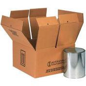 "Haz Mat Boxes For Four 1 Gal. Paint Cans, 14-1/4""L x 14-1/4""W x 7-5/8""H, Kraft, 10/Pack"