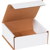"""Corrugated Mailers 5"""" x 5"""" x 2"""" 200#/ECT-32 White - Pkg Qty 50"""