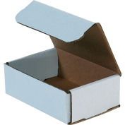 "Corrugated Mailers, 6""L x 4""W x 2""H, White - Pkg Qty 50"