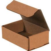 Boîtes pour envoi postalen carton ondulé, 6 pox4 po x2 po, 200#/ECT-32 kraft, qté par paquet : 50