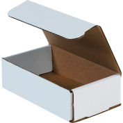 """Corrugated Mailers 7"""" x 4"""" x 2"""" 200#/ECT-32 White - Pkg Qty 50"""