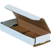 """Corrugated Mailers 6-1/2"""" x 2-1/2"""" x 1"""" 200#/ECT-32 White - Pkg Qty 50"""