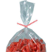 """Paper Twist Ties 4"""" x 5/32"""" Red Candy Stripe 2000 Pack"""