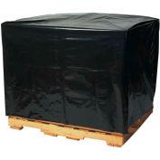 "Black Pallet Covers 48"" x 42"" x 66"" 3 Mil 50 Pack"