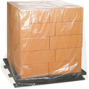 """Clear Pallet Covers 30"""" x 26"""" x 48"""" 3 Mil 50 Pack"""