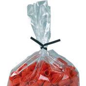 """Plastic Twist Ties, 7""""L x 5/32""""W, Noir, 2000 Pack"""