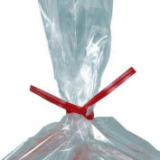 """Plastic Twist Ties, 8""""L x 5/32""""W, Rouge, 2000 Pack"""