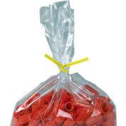 """Plastic Twist Ties, 9""""L x 5/32""""W, Jaune, 2000 Pack"""