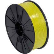 """Bobine de cravate en plastique twist, 7000'L x 5/32""""W, jaune"""