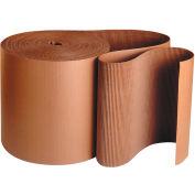 "Singleface Corrugated Roll, A Flute, 3"" x 250', Kraft, 1 Roll"