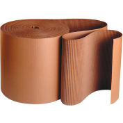 "Singleface Corrugated Roll, 36"" x 250', A Flute, Kraft, 1 Roll"