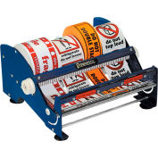 """Manual Tabletop Multi Roll Dispenser for Up To 12"""" Width Labels, Blue"""