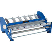 """Manual Tabletop Multi Roll Dispenser for Up To 18"""" Width Labels, Blue"""