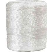 Ficelle de liaison au polypropylène, 3 plis, 2800'L, 480 lb Résistance à la traction, blanc