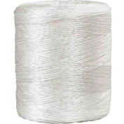 Ficelle de liaison au polypropylène, 1 plis, 5500'L, 210 lb Résistance à la traction, blanc