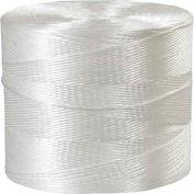 Ficelle de liaison au polypropylène, 1 plis, 8500'L, 145 lb Résistance à la traction, blanc