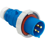 Bryant 460P9W Plug, 3 Pole, 4 Wire, 60A, 3ph 250V AC, Blue