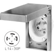 Bryant 71430MBWP Weather protection Power Inlets, L14-30, 30 a, 125/250V, aluminium