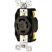 Bryant 71830FR TECHSPEC® Receptacle, L18-30, 30A, 3ph 120/208V AC, Black
