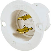 Bryant 7466N TECHSPEC® Midget Locking, ML-1P, 15A, 125V, White