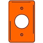 Bryant NP720OIG Single Receptacle Plate, 1-Gang, Standard, Orange, Nylon, 1.60 open