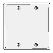 Bryant NPJ23W Box Mounted Blank Plate, 2-Gang, Mid-Size, White Nylon