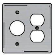 Bryant SS78 Single Duplex Combo Plate, 2-Gang, Standard, Satin Stainless