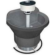 Bradley Wash Fountain, Semi Circular, 36 In Wide, Series WF2803, 3 Person Sink