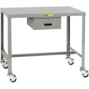 """Little Giant® Table de Machine, Casters pivotants avec freins, Tiroir - 36""""W x 24""""D x 36""""H"""