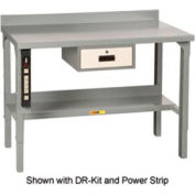 Little Giant®  Steel Square Edge  Workbench with Riser Shelf, Fixed Height, 28 x 60
