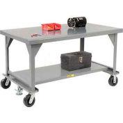 """Little Giant®  Mobile Heavy Duty, 7 Gauge, Steel Workbench  - 84""""W x 42""""D x 34""""H"""