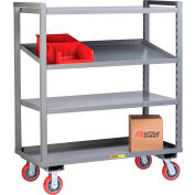 Little Giant® Adjustable Height Multi-Shelf Truck AM-3A-2448-6PY - 3 Adjustable Shelves 48 x 24