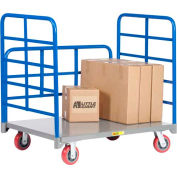 Little Giant® Double End Rack Platform Truck with Side Rack DRB-3048-6PY - 30 x 48