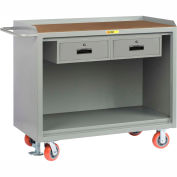 """Little Giant MH-2448-2DRFL   48"""" W Mobile Bench Cabinets, Double Storage Drawers, Hardboard Top"""