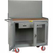"Little Giant MHP2D-2DRFL-PB 48""W x 24""D Mobile Workbench, 2 Drawers, 1/4"" Hardboard Top"