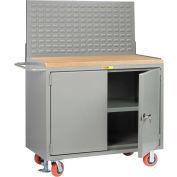 "Little Giant MJ3-2D-2448FLLP 48""W x 24""D Mobile Service Bench, Center Shelf"