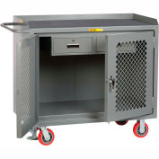"""Little Giant MMP2D2448-2DRFL  48"""" W Mobile Bench Cabinets, Double Storage Drawers, 2  Doors"""