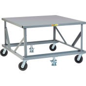 Little Giant® Fixed Height Mobile Pallet Stand PDFS4248-6PH2FL - 48 x 42 Solid Deck