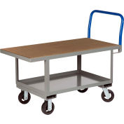 Little Giant® Work Height Platform Truck RNH2-2448-6MR-AH with Lower Shelf 24 x 48 Adj. Height