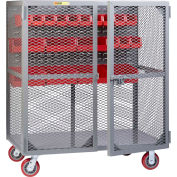 "Little Giant Mobile Tool Security Cabinet SCN-2460-6PY-LP - 60"" x 24"", Louvered Panel"