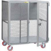 "Little Giant Mobile Tool Security Cabinet SCN-2460-6PY-PB - 60"" x 24"", Pegboard Panel"
