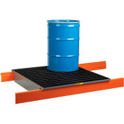 """Little Giant Rack Decking w/Spill Control Sump SS-RD-5149-48 - 51x49x7.5, Fits 48"""" Deep Pallet Racks"""