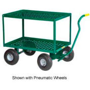 "Little Giant® 2 Shelf Nursery Wagon Truck 2LDWP-2436-10-G - 24 x 36 - 10"" Rubber Wheels"
