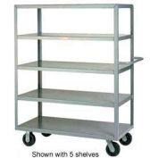 Little Giant® Multi-Shelf Truck 3M-3048-6PH, 3 Flush Shelves, 30 x 48