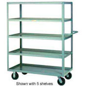 Little Giant® Multi-Shelf Truck 4ML-3048-6PH, 4 Lip Shelves, 30 x 48